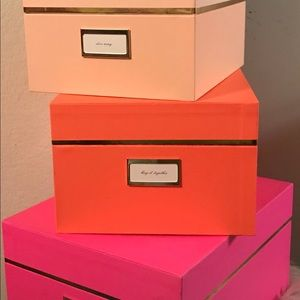 ♠️Kate spade♠️ Nesting Box set complete with all 3